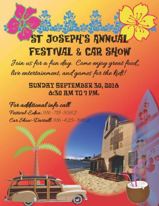 2018 Festival and Car Show Graphic