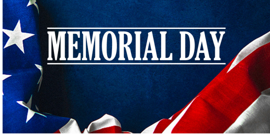 Memorial Day US Flag Graphic