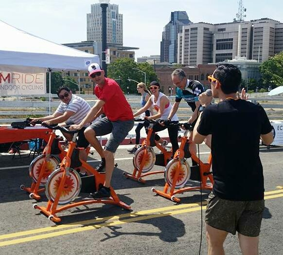 Sacramento Rides Bike Fair Stationary Bike Challenge
