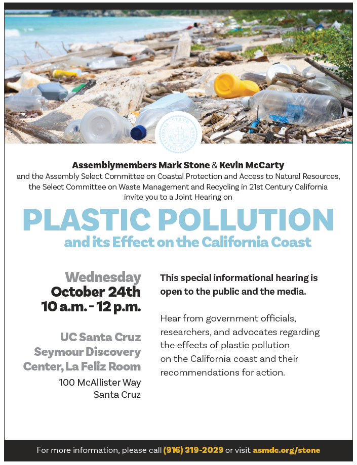 Joint Assembly Hearing on Ocean Plastic Pollution