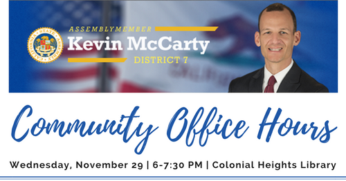 Kevin McCarty Community Office Hours Sacramento Colonial Heights