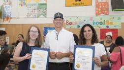 Assemblymember McCarty presents Certificates of Recognition