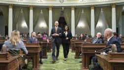 Assemblymember McCarty Walks with Woman of the Year Basira Alam